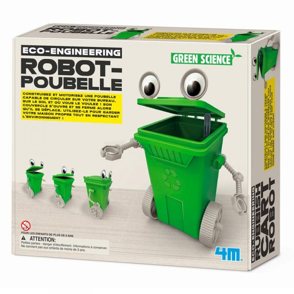 Kit de fabrication Green Science : Robot-Poubelle - Dam-5663371