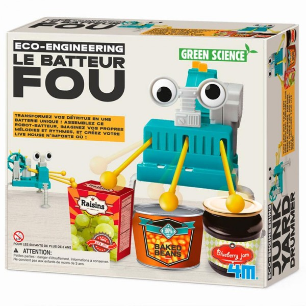 Kit de fabrication Green Science : Le Batteur Fou - Dam-5663372