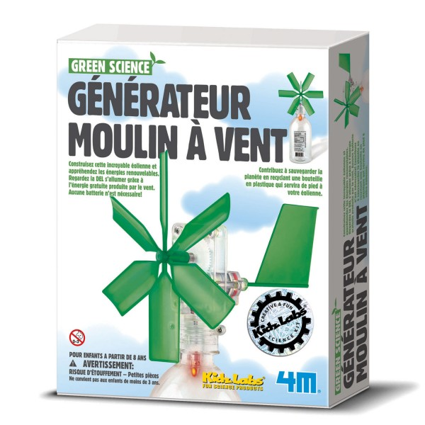 Kit de fabrication Green Science : Générateur moulin à vent : Eolienne - Dam-5663267