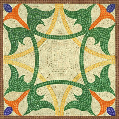 Mosaique En Ceramique mosaïque en céramique émaillée : forme géométrique 1 - aedes - rue