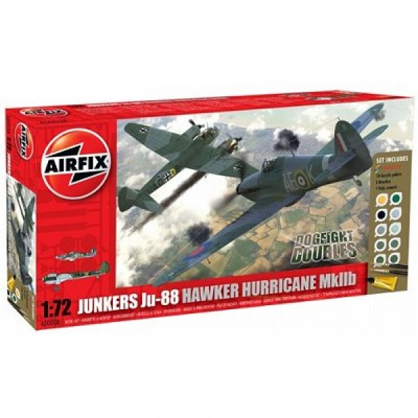Maquettes avions : Dogfight Doubles : Junkers Ju-88 et Hawker Hurricane MkIIb - Airfix-50038
