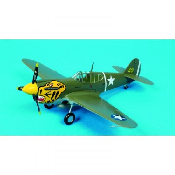 Maquette avion : Curtiss Tomahawk - P40E 11FS 343FG 1942 - Dragon-5043