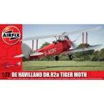 Maquette avion : De Havilland DH.82a Tiger Moth Rouge