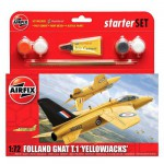 Maquette avion : Starter Set : Folland Gnat T.1 Yellowjacks