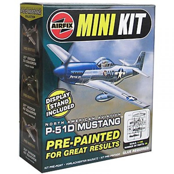 Maquette avion : Mini Kit : P-51D Mustang : Clarence Anderson - Airfix-0003-1