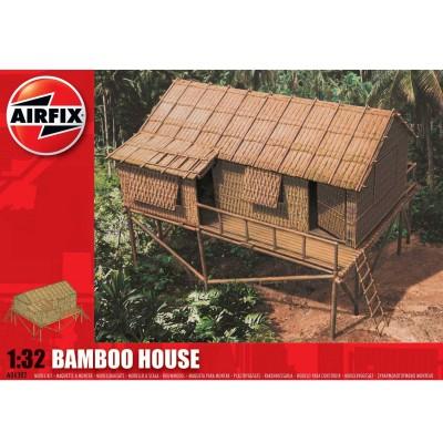maquette maison en bambou 1 32 airfix rue des maquettes. Black Bedroom Furniture Sets. Home Design Ideas