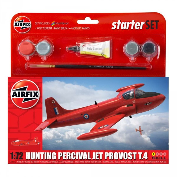 Maquette avion : Starter Set : Hunting Percival Jet Provost T.4 - Airfix-A55116