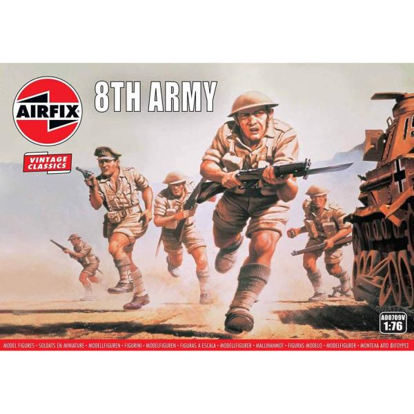 Figurines 2ème Guerre Mondiale : WWII British 8th Army - Airfix-A00709V