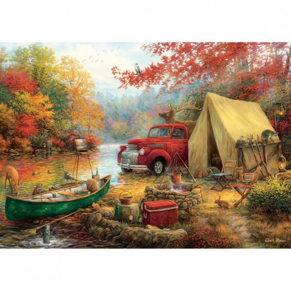 Puzzle 1500 pièces : Camping sauvage - Anatolian-ANA4540