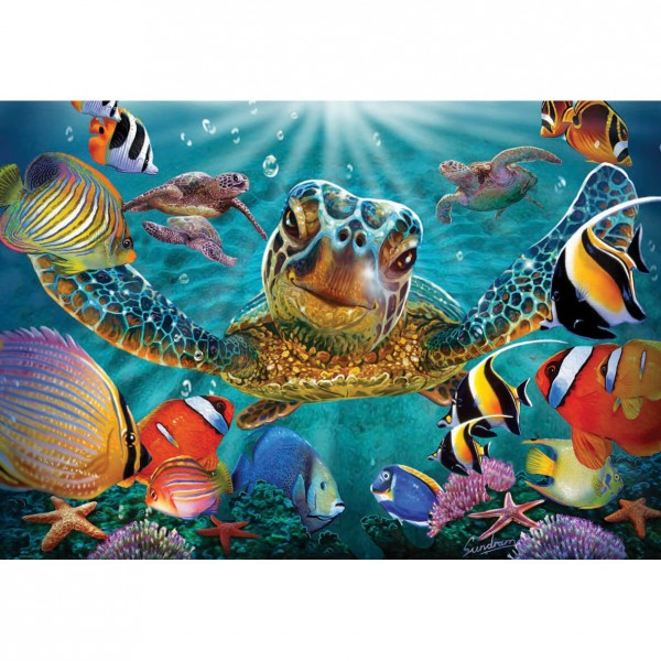 Puzzle 260 pièces : Tortue sous-marine - Anatolian-ANA3315