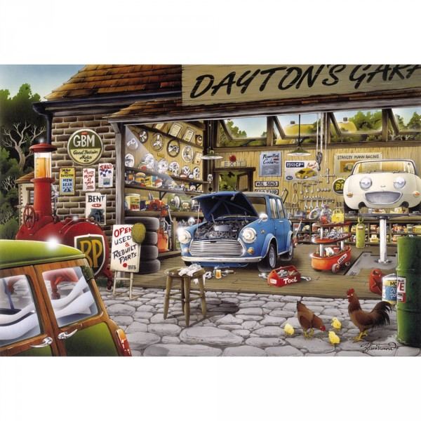 Puzzle 500 pièces : Garage Daytons - Anatolian-ANA3571