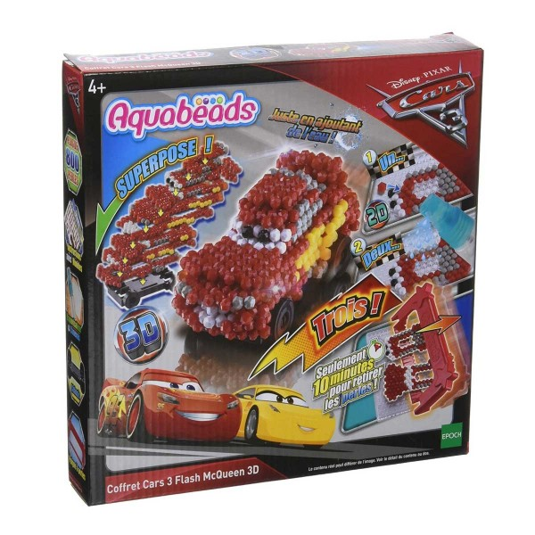 Aquabeads - Cars 3 : Coffret créatif 3D - Flash McQueen - Aquabeads-31059