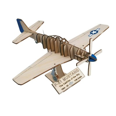 maquette avion en bois art wood north american p51 mustang artesania rue des maquettes. Black Bedroom Furniture Sets. Home Design Ideas