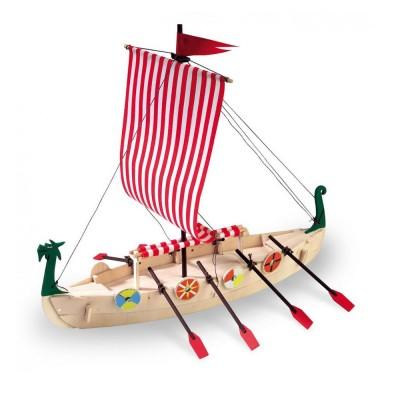 maquette bateau en bois drakkar viking artesania rue