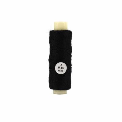 accessoire pour maquette de bateau en bois fil de coton noir 0 15 mm 40 m tres artesania. Black Bedroom Furniture Sets. Home Design Ideas
