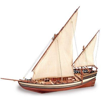 maquette bateau en bois sultan dhow arabe artesania rue des maquettes. Black Bedroom Furniture Sets. Home Design Ideas