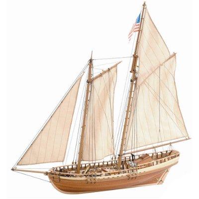 maquette bateau en bois virginia american schooner go lette am ricaine artesania rue des. Black Bedroom Furniture Sets. Home Design Ideas