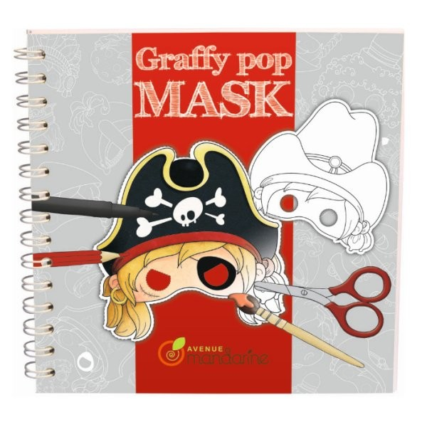 Carnet de coloriage et masques Graffy Pop Mask : Pirates - 52555