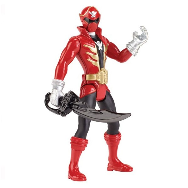Figurine 10 cm Power Rangers Super Megaforce rouge - Bandai-38160-1