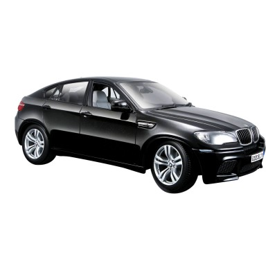 mod le r duit de voiture berline bmw x6 m noire echelle 1 18 bburago rue des maquettes. Black Bedroom Furniture Sets. Home Design Ideas