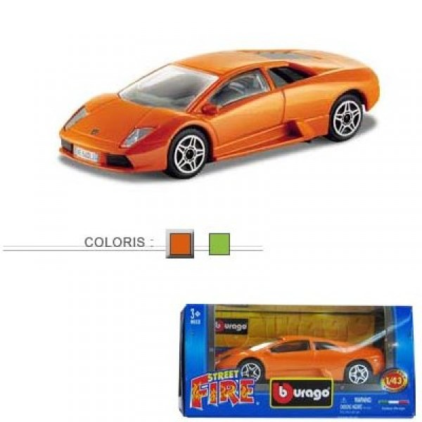 Modèle réduit - Lamborghini Murciélago - Collection Street Fire - Echelle 1/43 : Orange - BBurago-30000-30067O