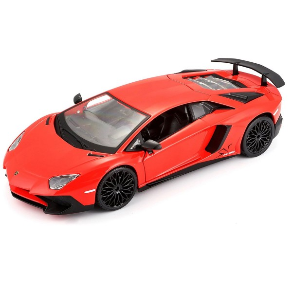 mod le r duit de voiture lamborghini aventador lp echelle 1 24 rouge jeux et jouets bburago. Black Bedroom Furniture Sets. Home Design Ideas