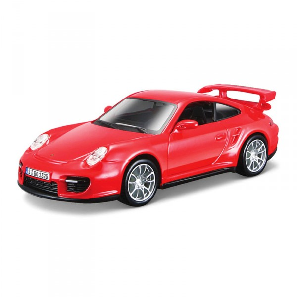 Maquette voiture : Metal Kit : Porsche 911 GT2 rouge - BBurago-45110-45125