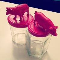 Figurine cochon et mouton