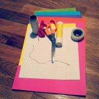 guirlande en papier loisirs créatif fait main