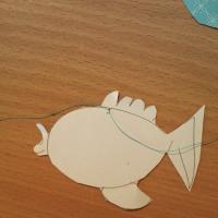 loisirs créatifs mobile poisson fait main