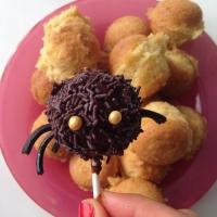 Préparation araignées au chocolat