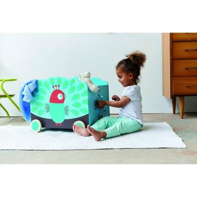 coffre jouets en bois paon jeux et jouets boikido. Black Bedroom Furniture Sets. Home Design Ideas