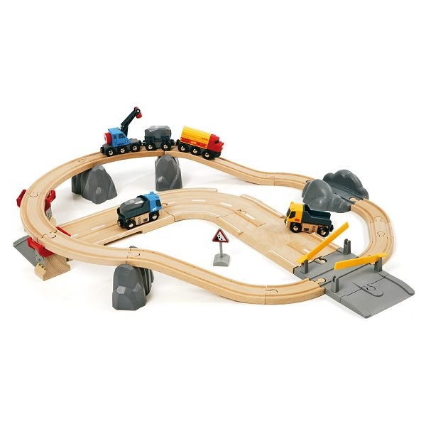 Train Brio : Circuit rail route : Transport de roches - Brio-33210