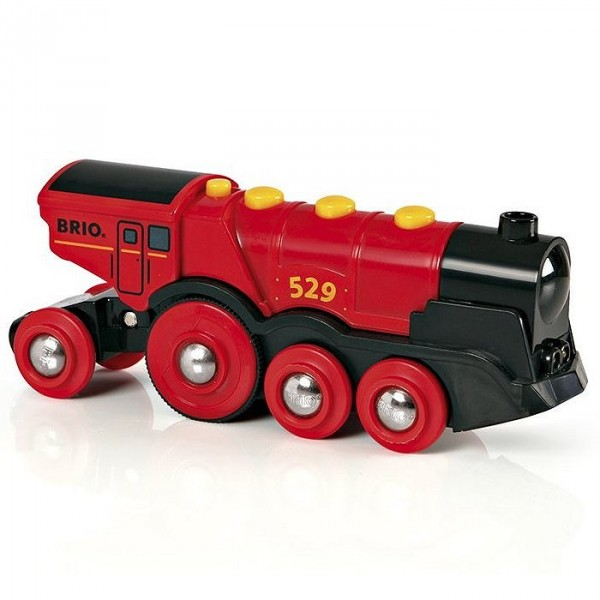 Train Brio : Locomotive rouge puissante à piles - Brio-33592