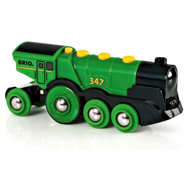 Train Brio : Locomotive verte puissante à piles - Brio-33593