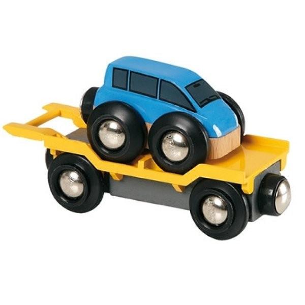 wagon transport de voiture avec rampe brio jeux et jouets brio avenue des jeux. Black Bedroom Furniture Sets. Home Design Ideas