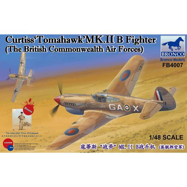 "Maquette avion : Curtiss""Tomahawk'MK.II B Fighter (The British Commonwealth Air Forces) - Bronco-BRMFB4007"