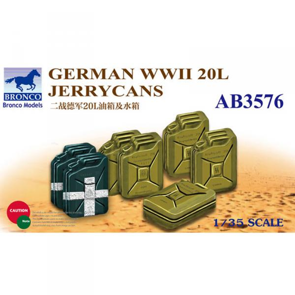 Accessoires militaires : Jerrycans German WWII 20L  - Bronco-BRMAB3576