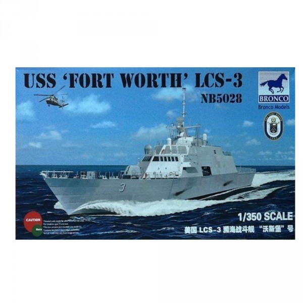 Maquette Bateau : USS Fort Worth LCS-3 NB5028 - Bronco-BRM5028