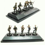 Figurines 2ème Guerre Mondiale : Panzergrenadiers allemands : Set 4 : 5 figurines sur socle