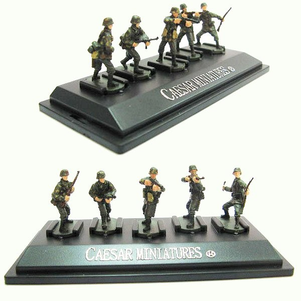 Figurines 2ème Guerre Mondiale : Panzergrenadiers allemands : Set 4 : 5 figurines sur socle - Caesarminiatures-CMP804