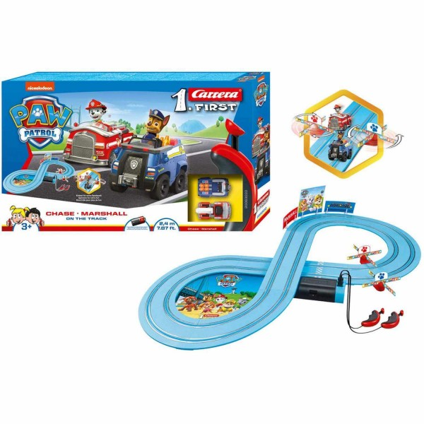 Circuit voitures : Carrera First : Pat'Patrouille (Paw Patrol) - Sur le circuit - Carrera-CA63033