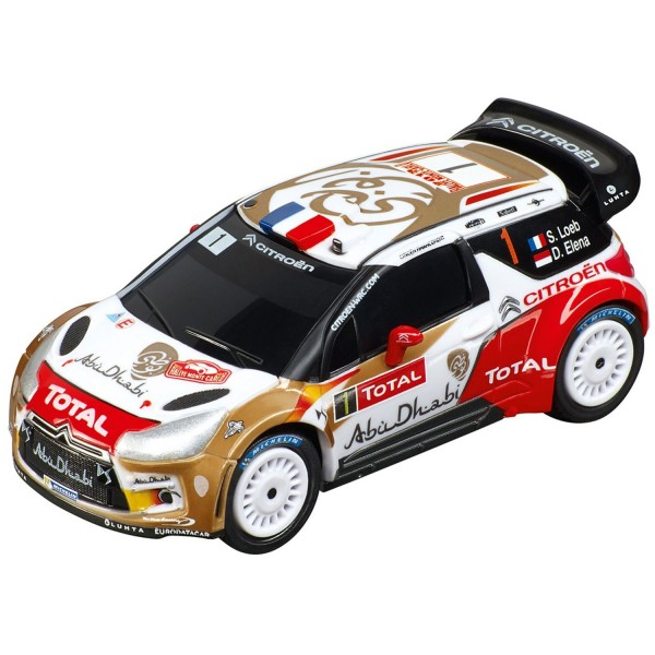 Voiture pour circuit Carrera Go : Citroën DS3 WRC Citroën Total Abu Dhabi, N°1 - Carrera-64006