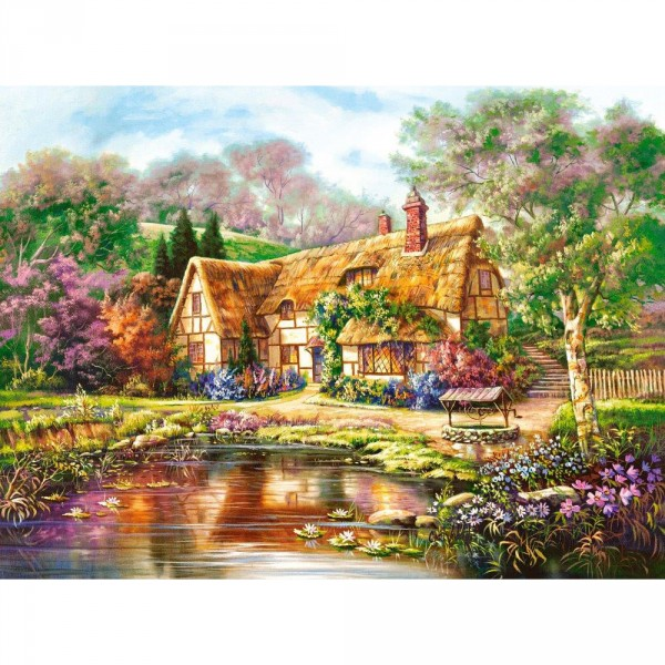 Puzzle 3000 pièces : Twilight at Woodgreen Pond - Castorland-300365