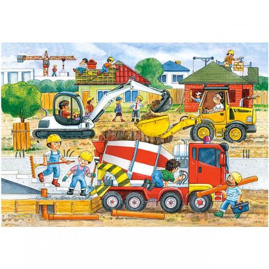 Puzzle 40 pi ces maxi chantier de construction puzzle for Chantiers de construction