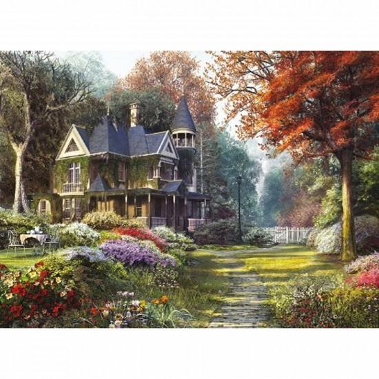 puzzle 1000 pi ces belle demeure dans jardin victorien puzzle clementoni rue des puzzles. Black Bedroom Furniture Sets. Home Design Ideas