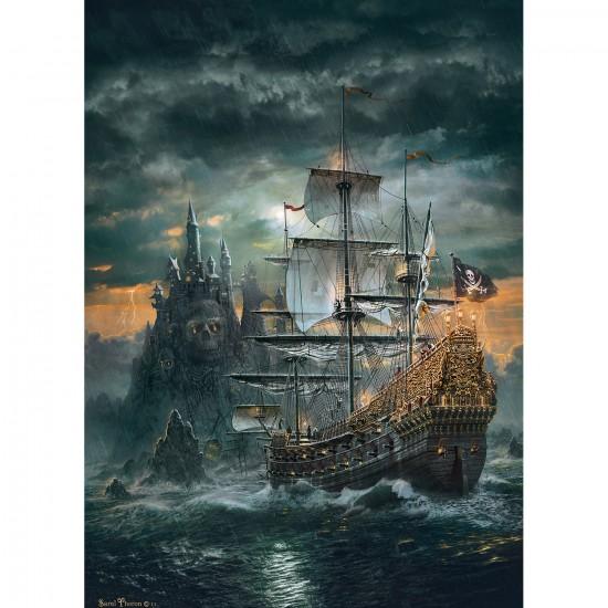 Puzzle 1500 pi ces le bateau pirate puzzle clementoni - Image bateau pirate ...
