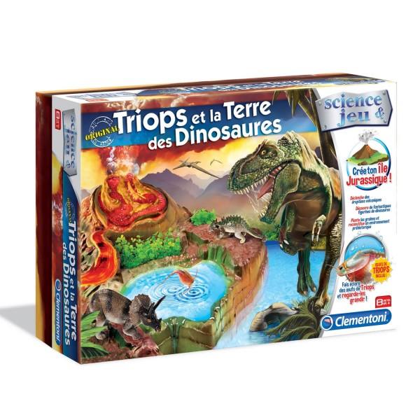 science jeu triops et la terre des dinosaures jeux et jouets clementoni avenue des jeux. Black Bedroom Furniture Sets. Home Design Ideas