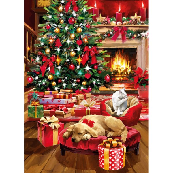 Puzzle 1000 pièces : Christmas Collection - Clementoni-39580