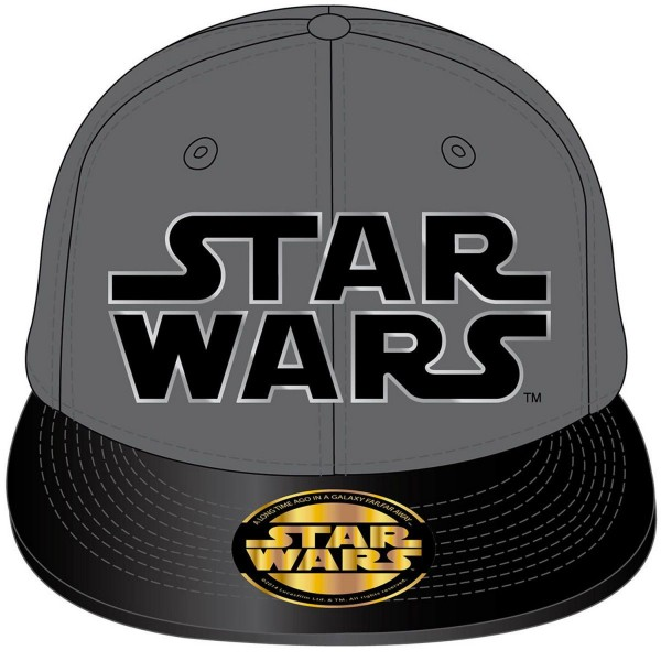 Casquette Star Wars : Grise - Cotton-ACSWLOGCP002GREY